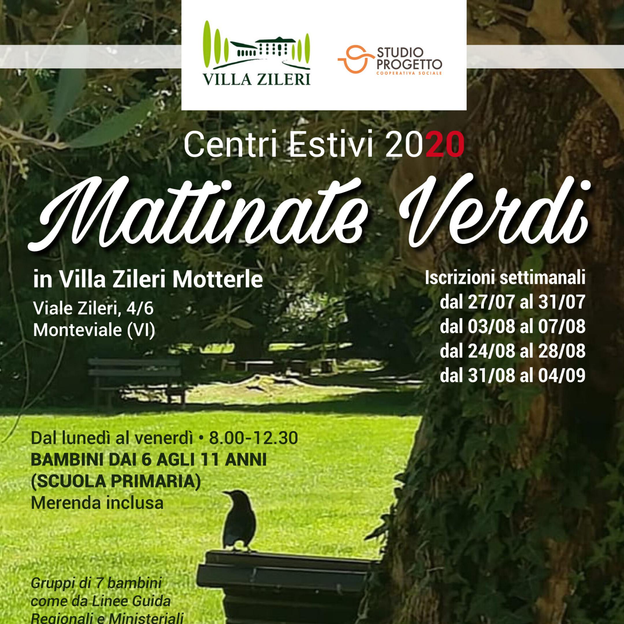 Mattinate Verdi: centro estivo a Villa Zileri
